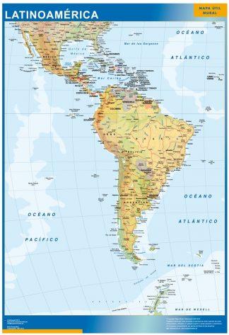 Carte Amerique Latine affiche murale