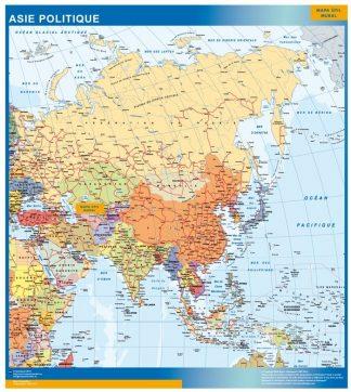 Carte Asie affiche murale