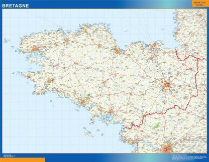 Carte Bretagne affiche murale
