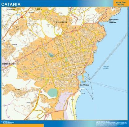 Carte Catania affiche murale