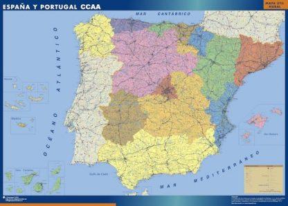 Carte Espagne autonomies affiche murale
