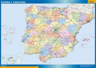 Carte Espagne élémentaire affiche murale