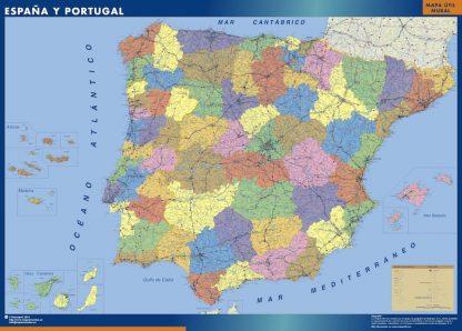 Carte Espagne provinces affiche murale