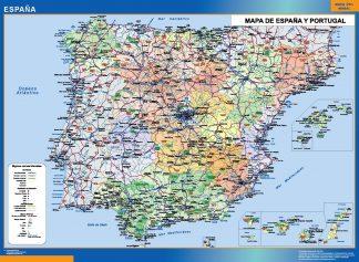 Carte Espagne simple affiche murale