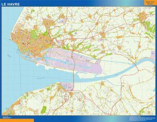Carte Le Havre affiche murale
