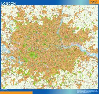 Carte Londres agglomération affiche murale