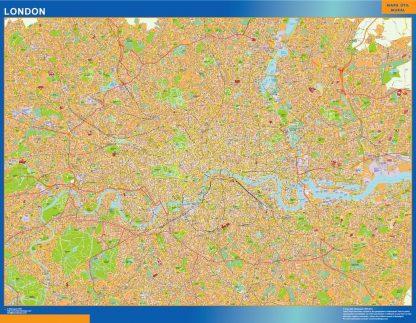 Carte Londres affiche murale