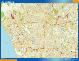 Carte Los Angeles affiche murale