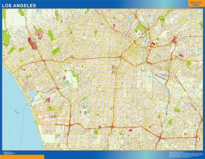 Carte Los Angeles affiche murale