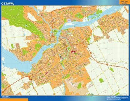 Carte Ottawa affiche murale