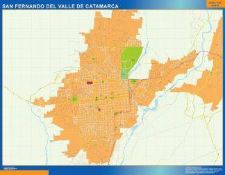 Carte San Fernando del Valle Catamarca Argentine affiche murale