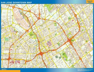 Carte San Jose downtown affiche murale