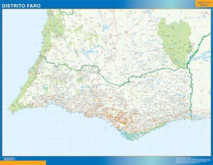 Carte district Faro affiche murale