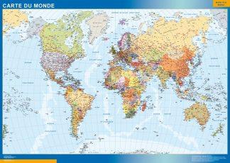 Carte monde affiche murale