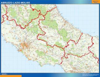Carte Abruzzo Lazio Molise affiche murale