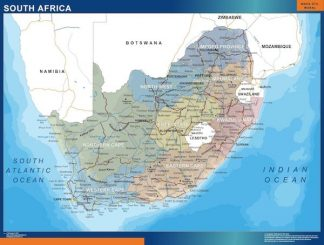 Carte Afrique Du Sud affiche murale