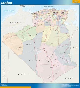 Carte Algerie affiche murale