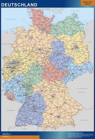Carte Allemagne affiche murale