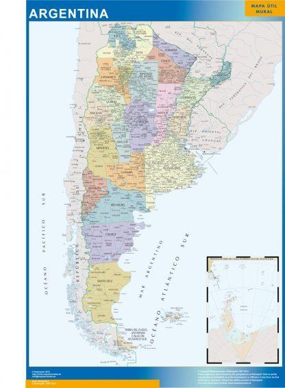 Carte Argentine affiche murale