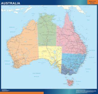 Carte Australia affiche murale
