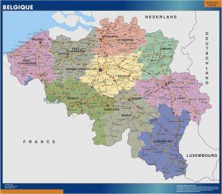 Carte Belgique affiche murale