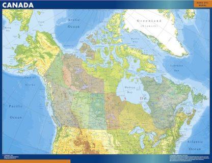 Carte Canada affiche murale