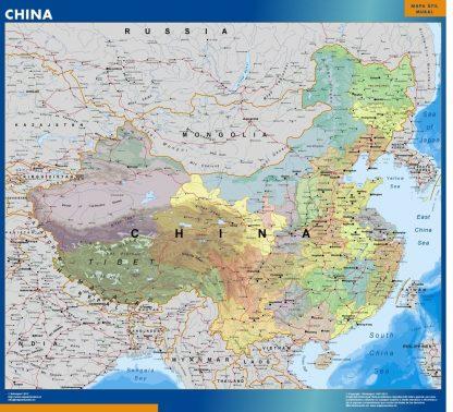 Carte Chine affiche murale