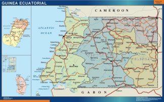Carte Guinee Equatoriale affiche murale
