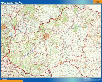 Carte Hongrie affiche murale