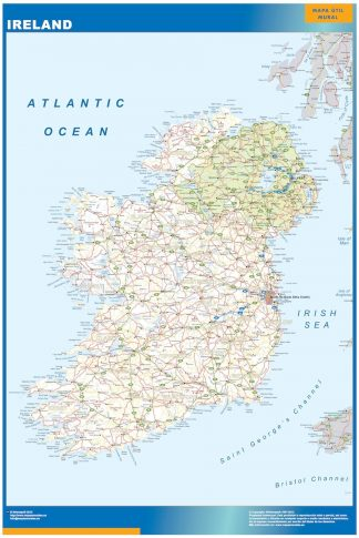Carte Irlande affiche murale