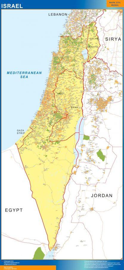 Carte Israel affiche murale
