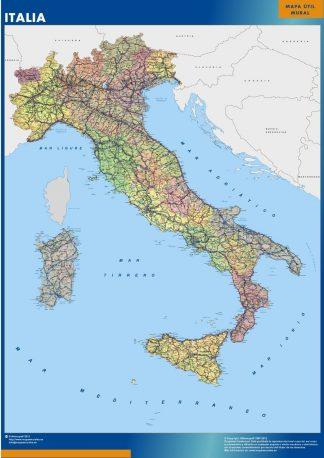 Carte Italie affiche murale