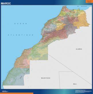 Carte Maroc affiche murale