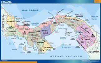 Carte Panama affiche murale