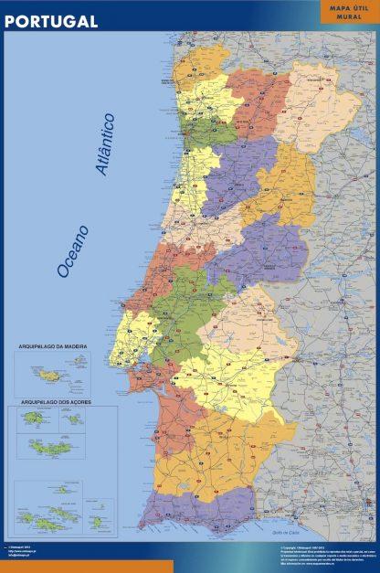 Carte Portugal affiche murale