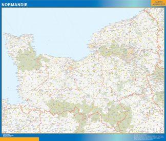 Carte Région Normandie affiche murale