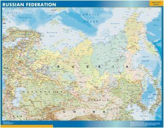 Carte Russie affiche murale