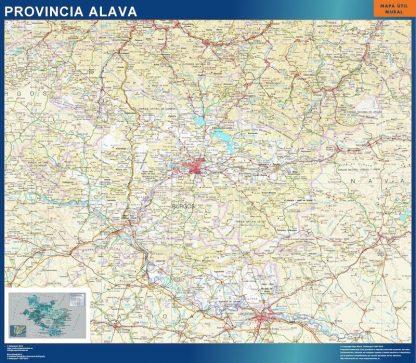 Carte province Alava affiche murale