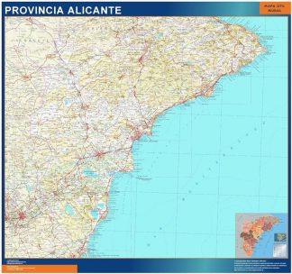 Carte province Alicante affiche murale