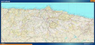 Carte province Asturias affiche murale