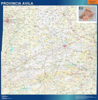 Carte province Avila affiche murale