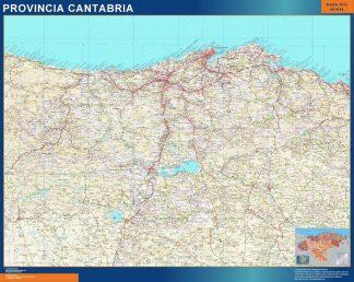 Carte province Cantabria affiche murale