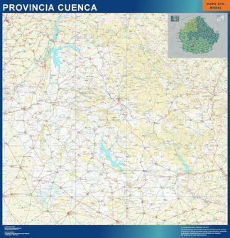 Carte province Cuenca affiche murale