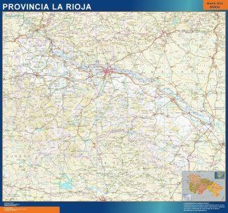 Carte province La Rioja affiche murale