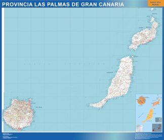 Carte province Las Palmas Gran Canaria affiche murale