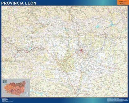 Carte province Leon affiche murale