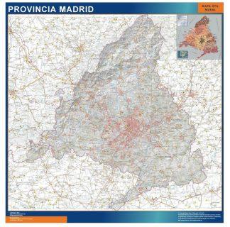 Carte province Madrid affiche murale