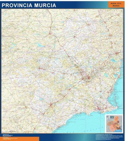 Carte province Murcia affiche murale