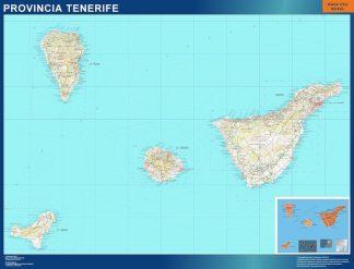 Carte province Tenerife affiche murale