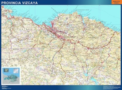 Carte province Vizcaya affiche murale